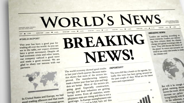 Newspaper Headline: Breaking News video