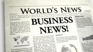 Newspaper Headline: Business video