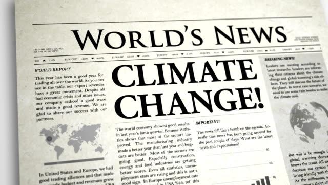 Newspaper Headline: Climate Change video