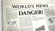 Newspaper Headline: Danger video