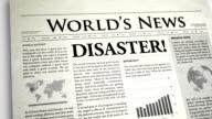 Newspaper Headline: Disaster video