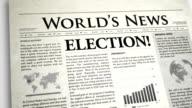Newspaper Headline: Election video