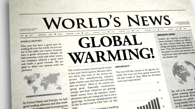 Newspaper Headline: Global Warming video