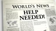 Newspaper Headline: Help Needed video