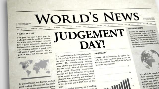Newspaper Headline: Judgement Day video