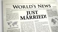 Newspaper Headline: Just Married video