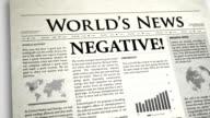 Newspaper Headline: Negative video