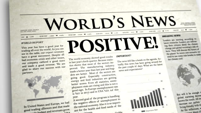 Newspaper Headline: Positive video