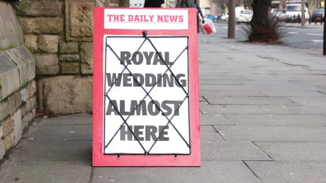 Newspaper Headline - Royal Wedding almost here video