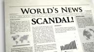 Newspaper Headline: Scandal video