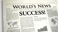 Newspaper Headline: Success video