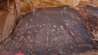 Newspaper Rock State Park petroglyphs lens flare Utah video
