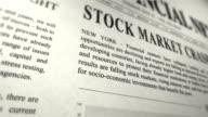 Newspaper simulation - STOCK REPORT video