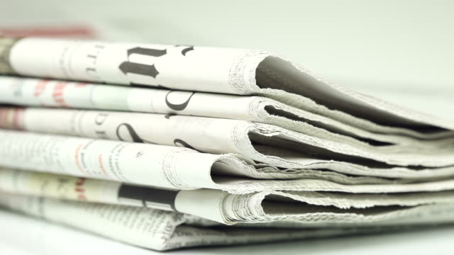 Newspapers - close up video