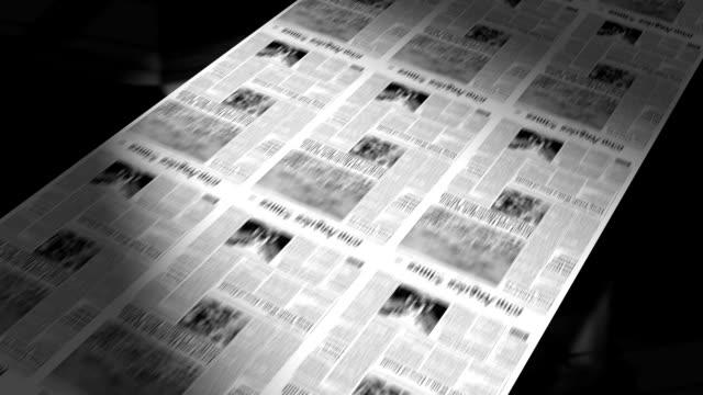 Newspapers Printing (Loop) video