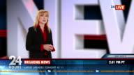 HD: Newsreader Presenting The News video