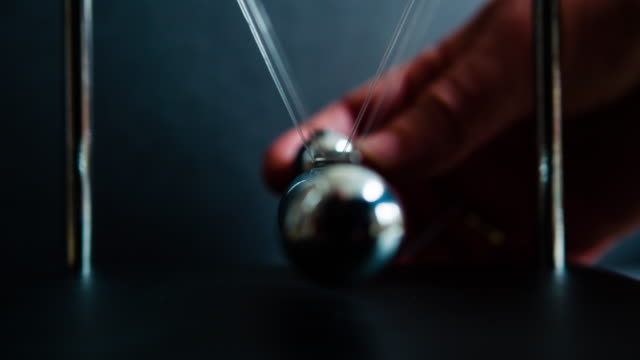 Newton's Cradle Slow Motion video