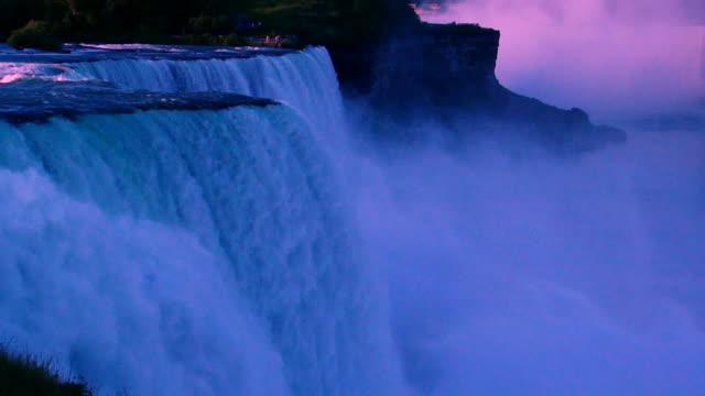Niagara Falls HD - pink sky video