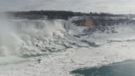Niagara Falls Waterfall in Winter (Super Slow Motion) video