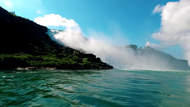 Niagara falls with water on a sunny day video