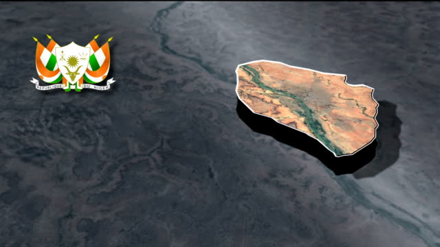 Niamey with Coat Of Arms Animation Map video