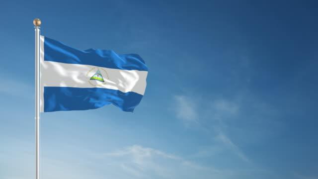 4K Nicaragua Flag - Loopable video