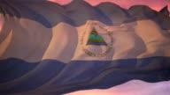 Nicaragua Flag video