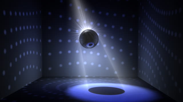 Nice 3d Disco ball animation loop video