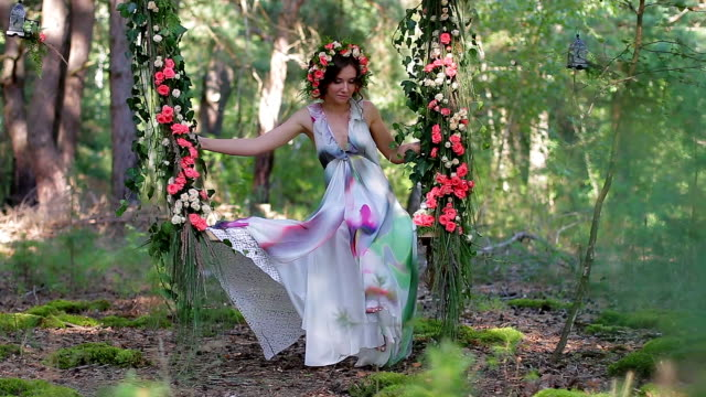 Nice forest fairy. video