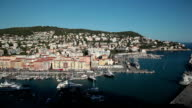 Nice harbor on a sunny day, French Riviera, France video