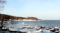 A nice view of the beach horizon video