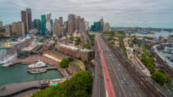 A nice view to the city of Sydney from the Harbor Bridge video