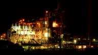 Nickel Refinery at night, Western Australia video