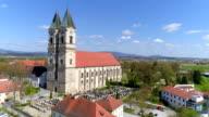 Niederaltaich Monastery Church In Lower Bavaria Flyover video