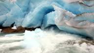 Nigardsbreen Glacier melting (Norway) video