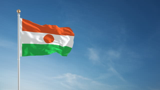 4K Niger Flag - Loopable video