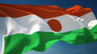 4K Niger Flag - Loopable video