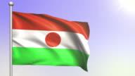 4K Niger Flag (Loopable) video