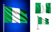 Nigeria flag - with Alpha channel, seamless loop! video