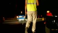 Night Auto Accident video