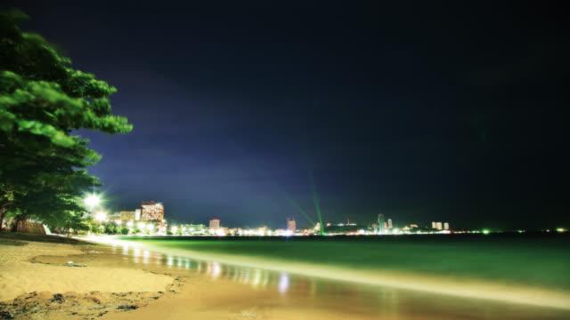 Night beach video
