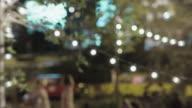 Night bokeh light background video