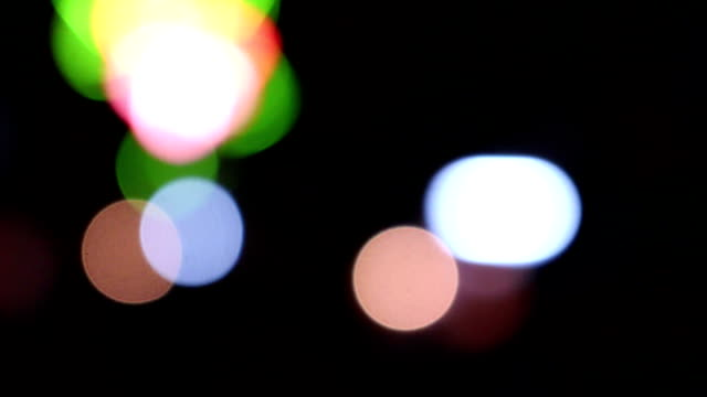 Night bokeh with out of focus camera video
