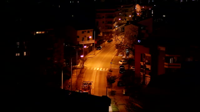Night Budva, Montenegro. The new town, the view from the highest video