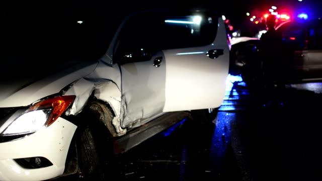 Night car crash video