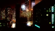 Night Chicago time lapse video