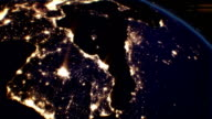 Night Cities from the Satellite. Europe. NASA Photo. HD 1080. video