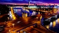 Night city skyline. Moscow. video