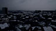 Night city time lapse video