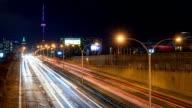 Night City Traffic Cars Toronto Freeway video